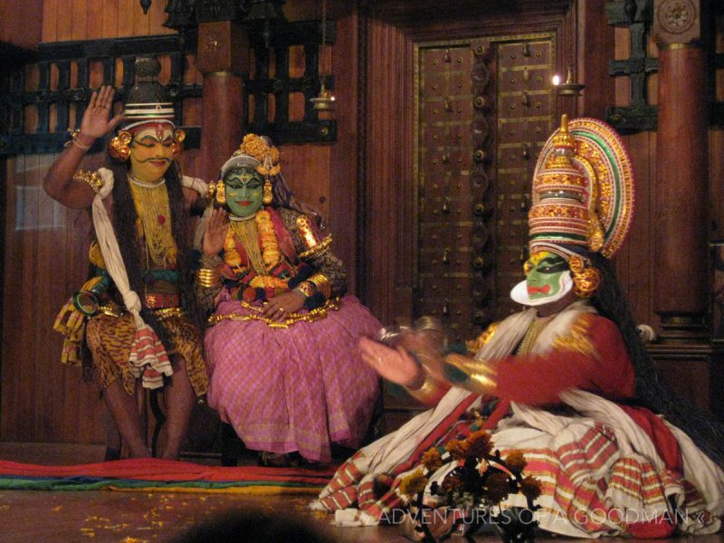 A Kathakali performance in Fort Cochin, Kerala, India