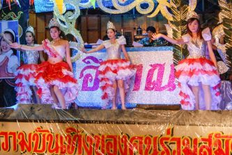 A lady boy caberet show in the Pinklao area of Bangkok, Thailand