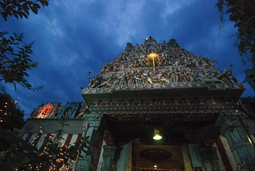 An Indian temple in Singapore