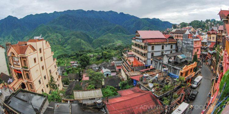 The mountain town of Sapa, Vietnam