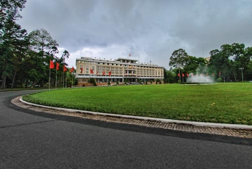 The Reunification Palace in Ho Chi Min, Viet Nam