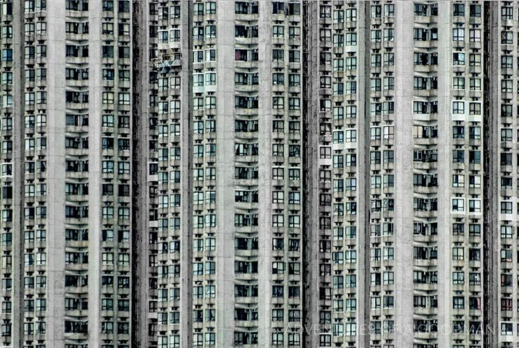 Hong Kong apartment building windows