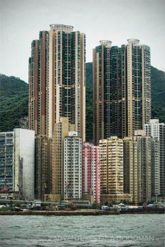 Hong Kong skyscrapers and apartment buildings