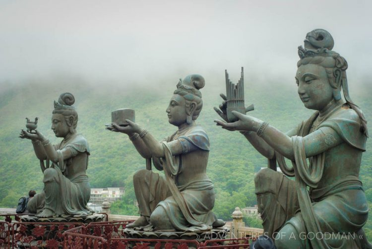 Statues in Lantau, Hong Kong