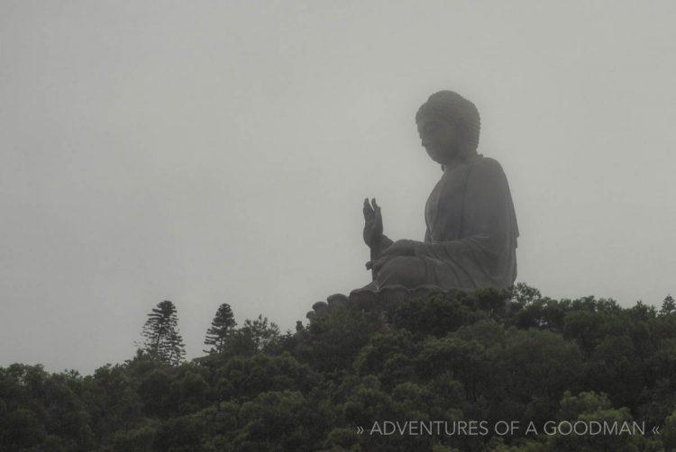 The giant Lantau Buddha in Hong Kong