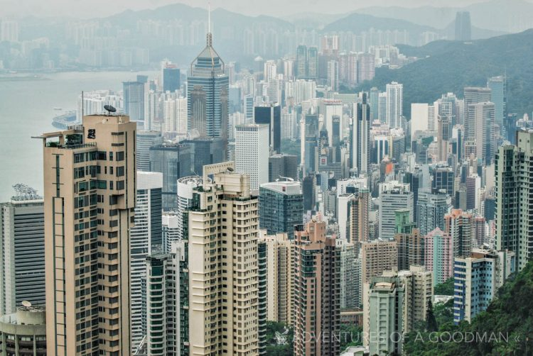 Hong Kong's financial district, as seen from Victoria's Peak