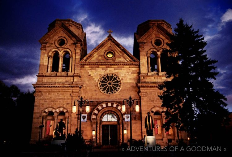 The Cathedral Basilica St. Francis of Assisi in Santa Fe, New Mexico