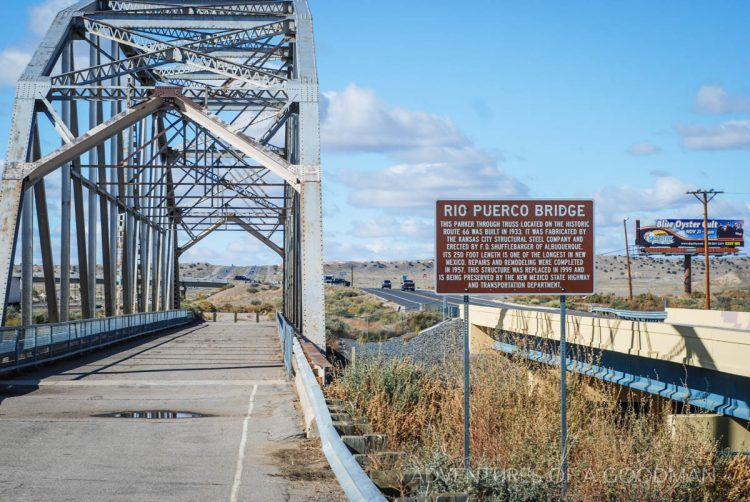 The Rio Puerco Bridge in New Mexico is now located alongside the interstate