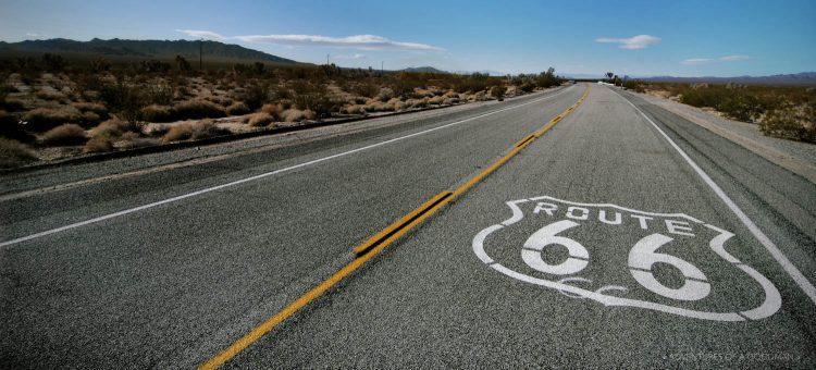 Route 66 in Essex, California