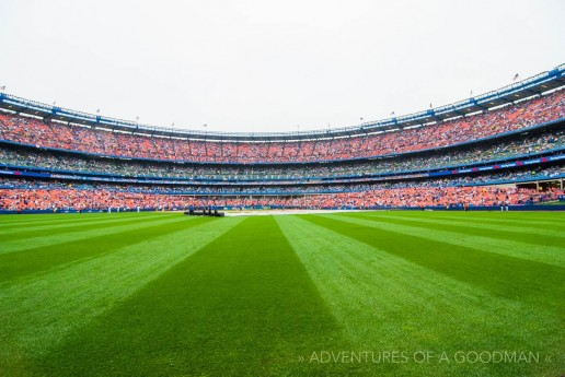 I actually got to stand on the field during the second to last game at Shea Stadium