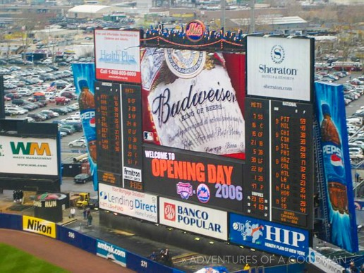 Opening day at Shea Stadium in 2006