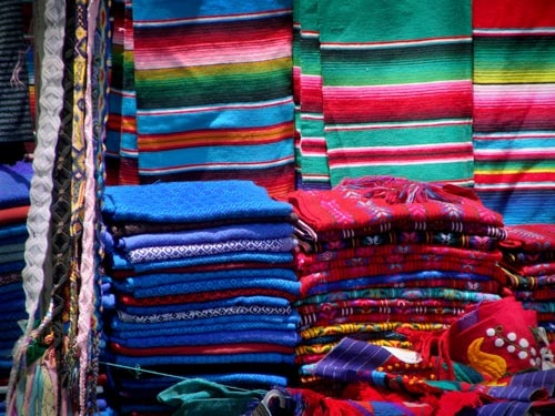 Traditional markets for sale in a market in Chiapas, Mexico