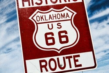 Route 66 sign in Stroud, Oklahoma