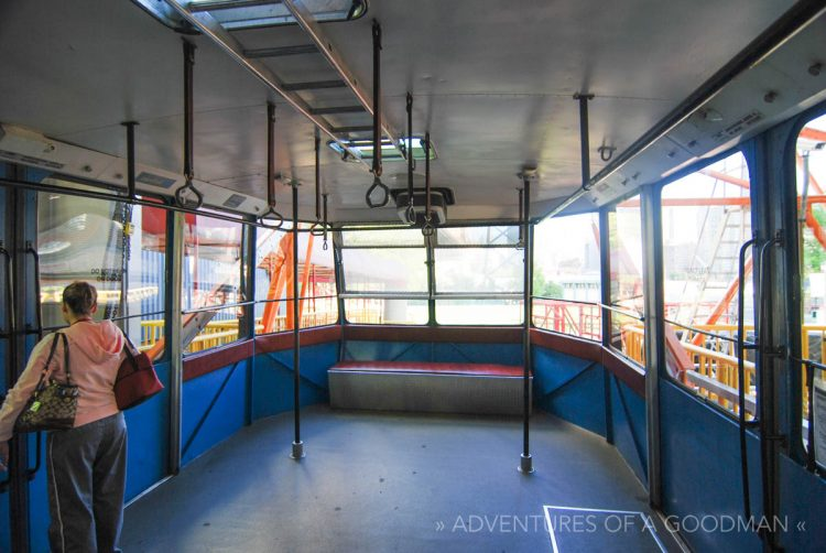 Inside the Roosevelt Island Tram