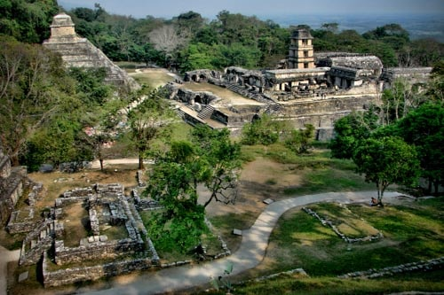 The Mayan ruins of Palenque in Mexico