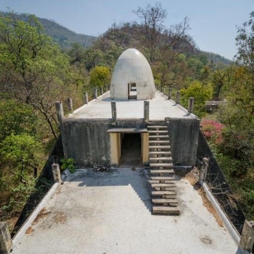 Meditation dome eggman Beatles Ashram Rishikesh India
