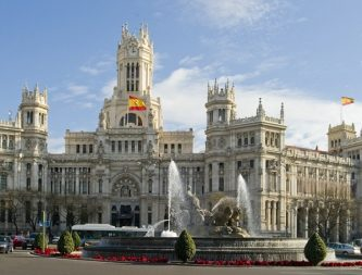 Madrid Cibeles Fountain and town hall