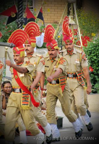 Members of the India Border Security Force in their daily dance of faux-aggression