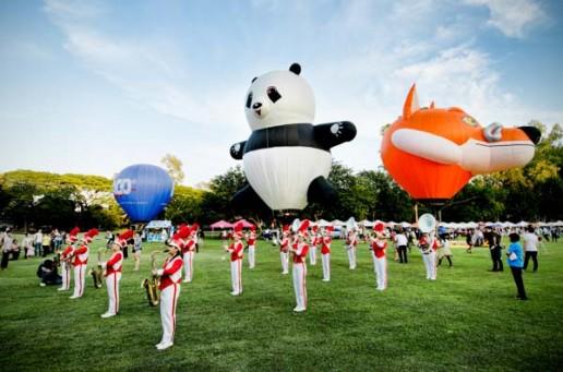 the Thailand International Balloon Festival at Chiang Mai Gymkhana Golf Club