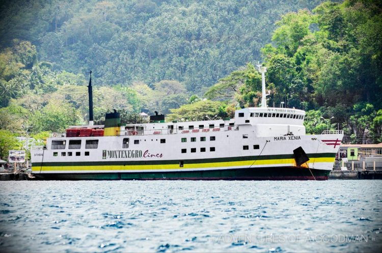 The Maria Xenia Montenegro Lines Ferry from Romblon Island to Batangas Pier in the Philippines