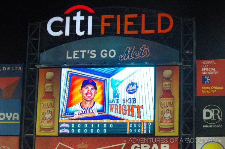 The Captain on the jumbotron