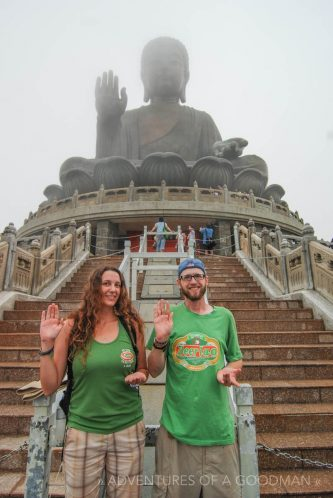 Carrie and I at the Giant Buddha