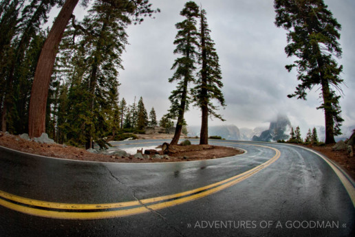The big curve just before you reach Glacier Point in Yosemite National Park