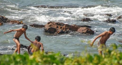 Goa India Water Boys Playing