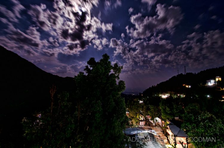 A view from the rooftop of Bhagsu Villas, taken during the May 2012 Supermoon