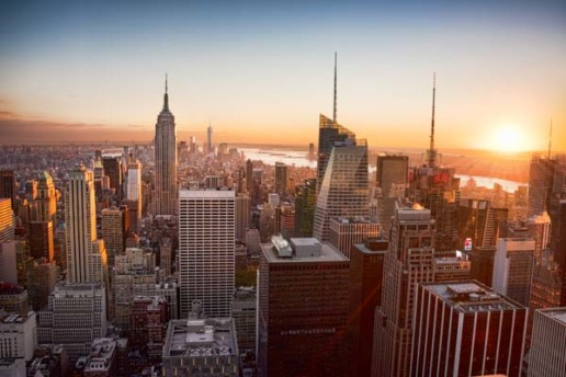 A view of Manhattan from the Top of the Rock