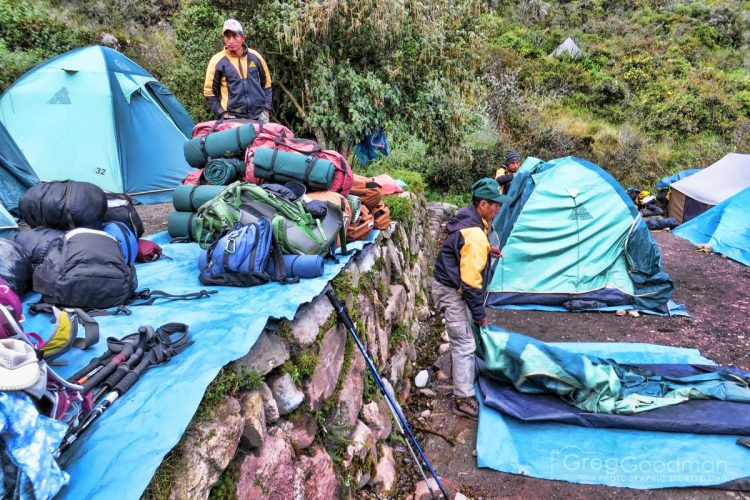 Pretty much everything is taken care of for you on the Inca Trail.