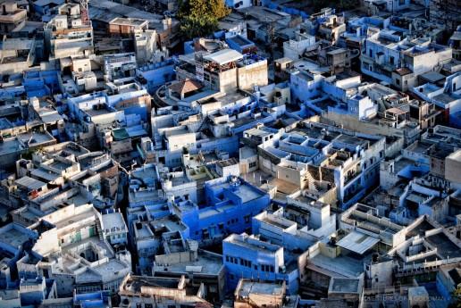 The blue roofs of Jodhpur, India