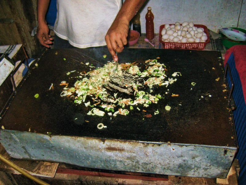 Making Vegetable Kottu in Sri Lanka