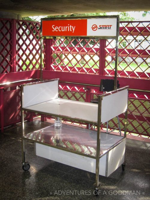 Singapore subway security stand