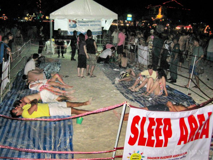The Sleep Area at the Full Moon Party