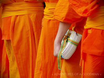 Novice monks at Wat Phra Singh in Chiang Mai, Thailand