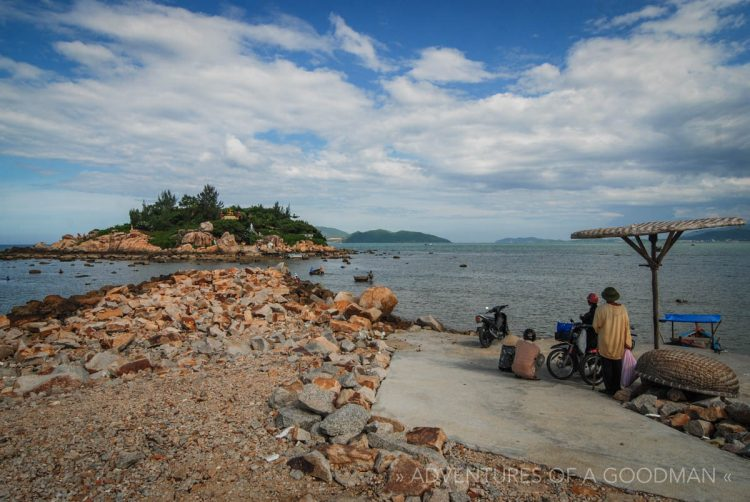 Waiting for a boat to visit a Buddhist shrine in Nah Trang, VietNam