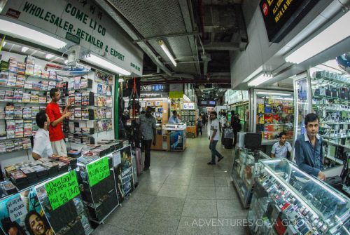 Bootleg movies and music for sale in Chungking Mansions