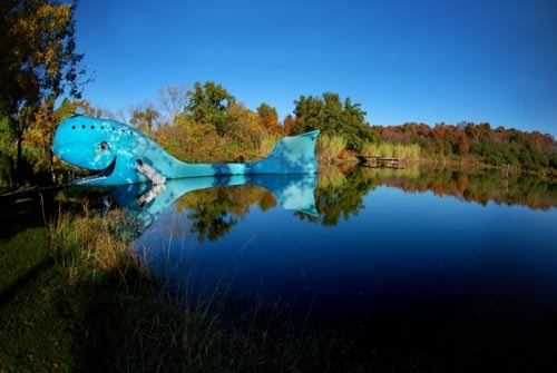 The Catoosa Blue Whale — an icon on Route 66 in Oklahoma