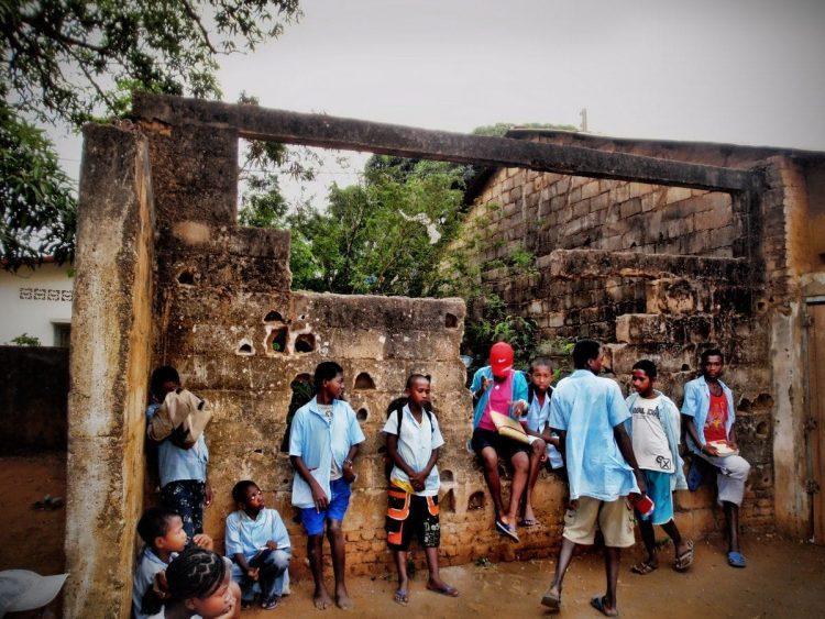 School children in Madascar, Africa. By Kim Reuter
