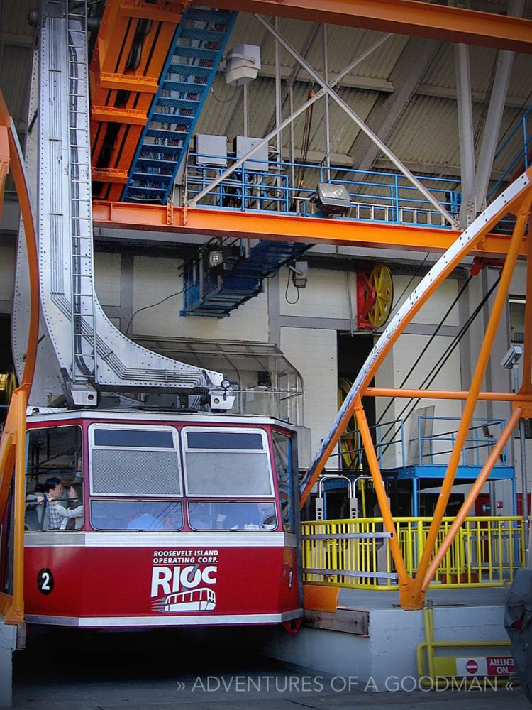 The Tram, docked at the Roosevelt Island station in NYC