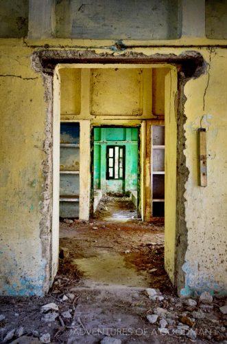 Doors leading into doors leading past abandonment at the Maharishi Mahesh Yogi Ashram in Rishikesh