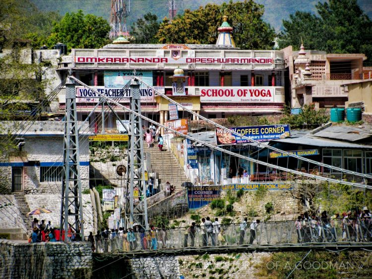 Yoga Centers by the Laxshman Jhula in Rishikesh, India