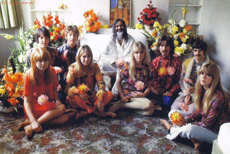 The Beatles at the Maharishi Mahesh Ashram in Rishikesh, India