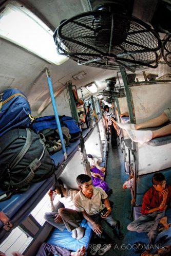 Inside an Indian sleeper train