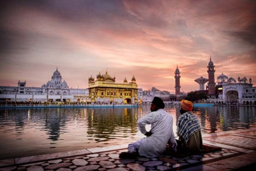 Sunrise at the Golden Temple in Amritsar, India