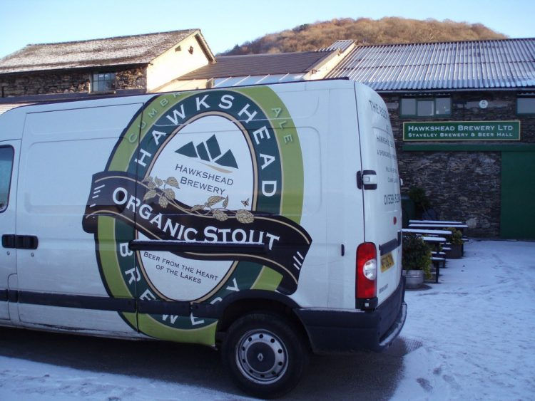 Hawkshead Brewery delivery truck