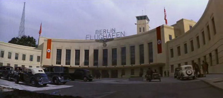 A screenshot of the Berlin airport in Indiana Jones and the Last Crusade - the exact time in the movie it appears is 1:07:49