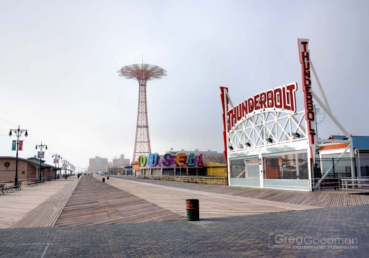 The Thunderbolt is Coney Island's newest attraction - a high-speed rollercoaster