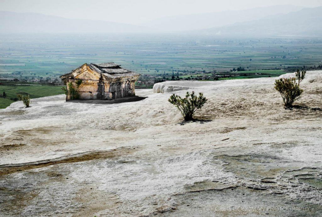 Pamukkale Hot Springs in Denizli Province, Turkey